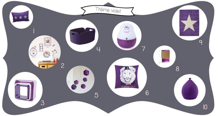 Idées déco chambre d'enfant : couleur violet